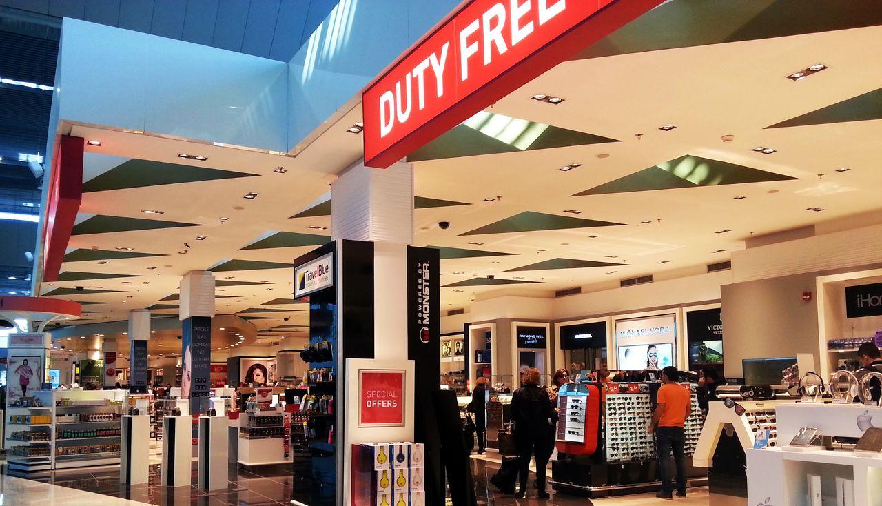 duty free shop compras