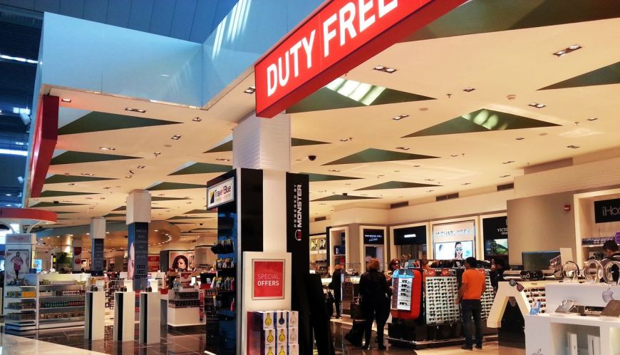 duty free shop compras