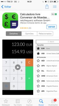 Aplicativo Conversor de Moedas e Calculadora de taxas