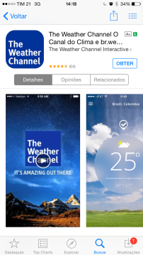 Aplicativo Weather Channel